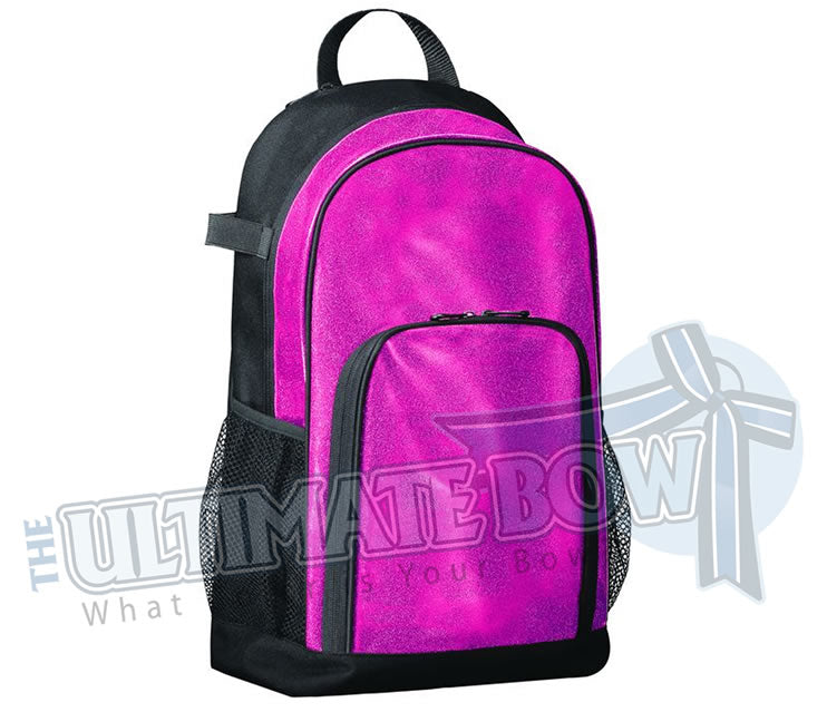 Pink sparkle glitter back pack | cheer-bag-softball bag | Augusta-1106 | All Out Glitter Back Pack