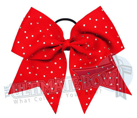 Nina's Summer Fling | Budget Rhinestone Bows | Red Rhinestone Cheer Bow
