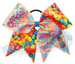 Official Jelly Bean Tester Cheer Bow | Easter Cheer Bow | Jelly Bean Cheer Bow