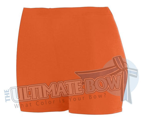 Ladies-Spandex-spanks-boy-cut-shorts-orange-1210-Augusta-Sportswear-cheerleading-softball-soccer-volleyball-workout