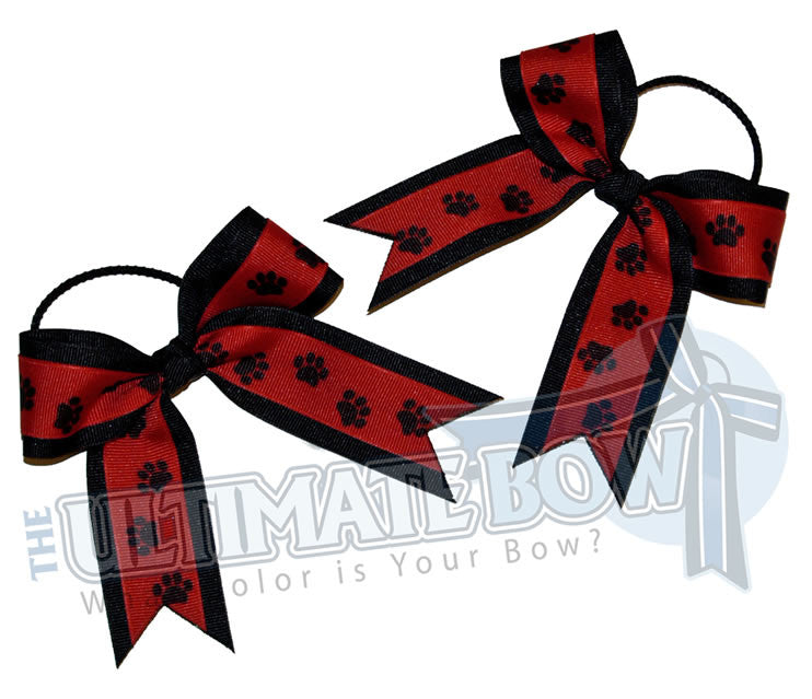 Paw-prints-ribbon-pig-tails-red-black