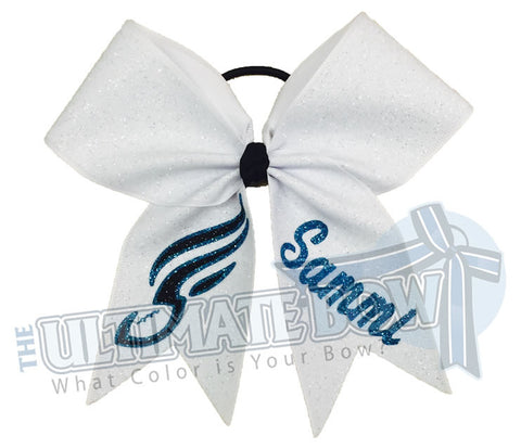 Junior-Soulmates-Philly-philadelphia-soul-arena-football-dance-team-personalized-cheer-bow-my-bow-white-turquoise-glitter