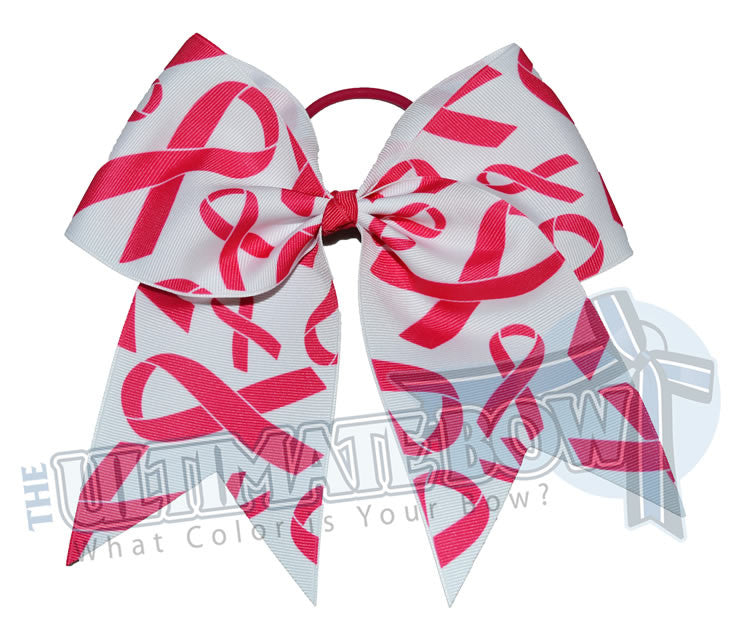 Pink Ribbon Madness Cheer Bow | Breast Cancer Cheer Bow