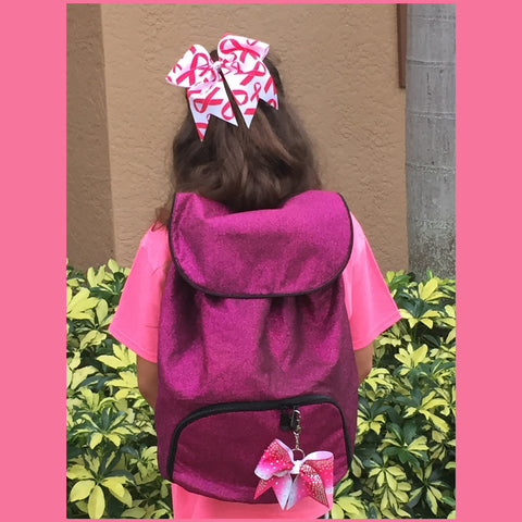 Pink-Sparkle-glitter-back-pack-cheer-bag-softball-Augusta-1105