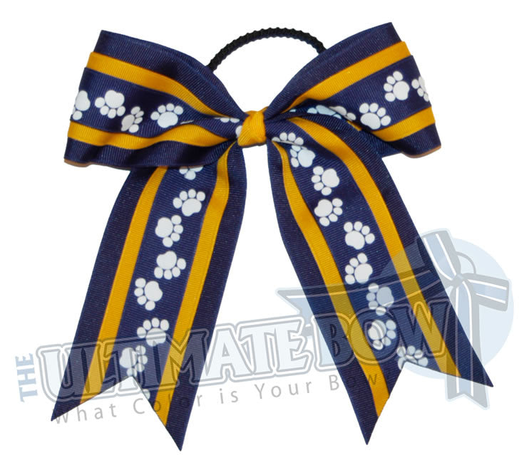 playful-paw-print-ribbon-cheer-bow-royal-blue-yellow-gold