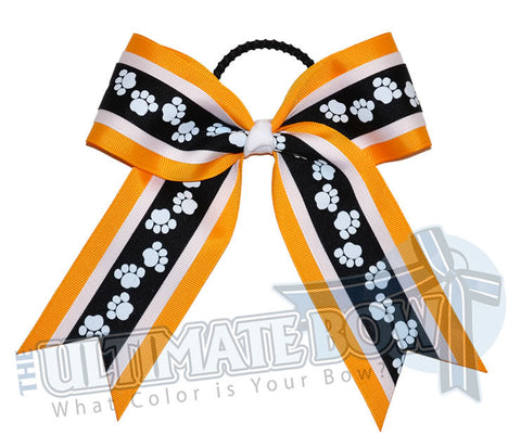 playful-paw-print-ribbon-cheer-bow-black-white-yellow-gold