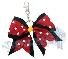 red with white polka dots - Minnie Mouse Polka Dots Disney-key-chain-bow-keychain