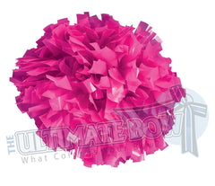 Cheerleader Poms | Pom Poms | Breast Cancer Awareness Poms | Neon Pink Pom Poms | Cheer Poms