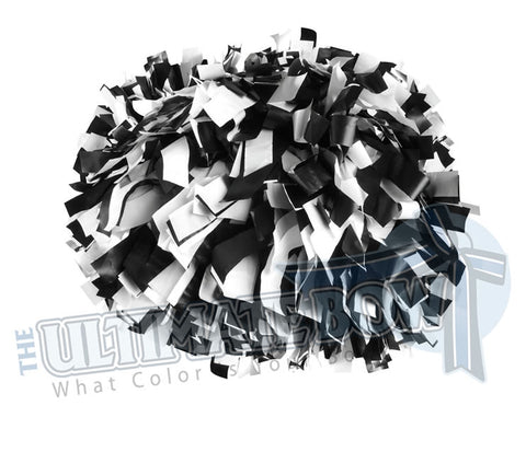 Cheerleader Poms | Pom Poms | Football Poms | Black and White Pom Poms | Cheer Poms | Pom Pons