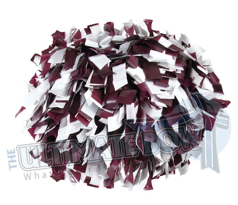 Cheerleader Poms | Pom Poms | Football Poms | Maroon and White Pom Poms | Cheer Poms | Pom Pons