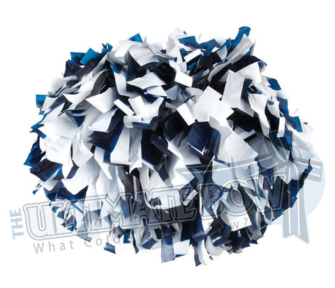 Cheerleader Poms | Pom Poms | Football Poms | Navy and White Pom Poms | Cheer Poms | Pom Pons