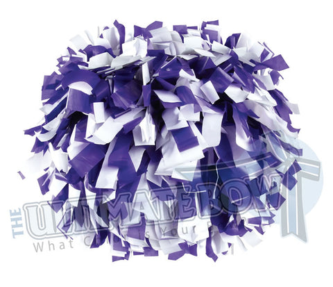 Cheerleader Poms | Pom Poms | Football Poms | Purple and White Pom Poms | Cheer Poms | Pom Pons