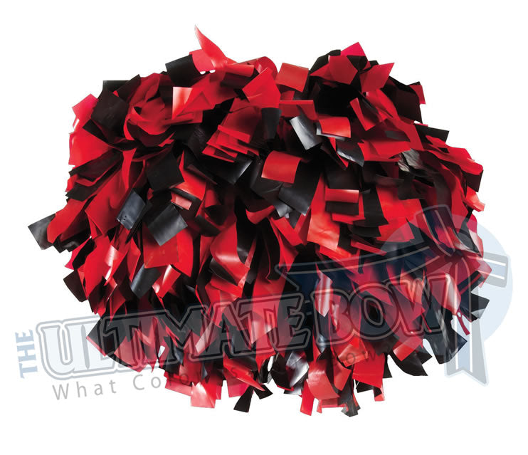 Cheerleader Poms | Pom Poms | Football Poms | Black and Red Pom Poms | Cheer Poms | Pom Pons