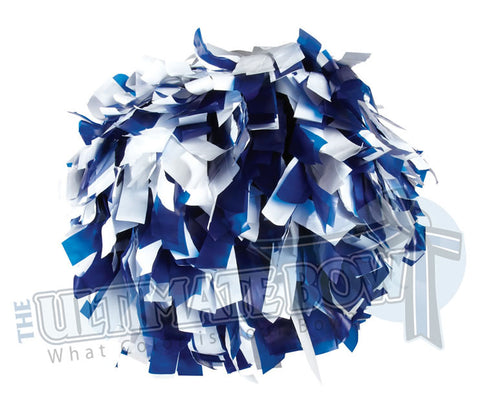 Cheerleader Poms | Pom Poms | Football Poms | Royal and White Pom Poms | Cheer Poms | Pom Pons
