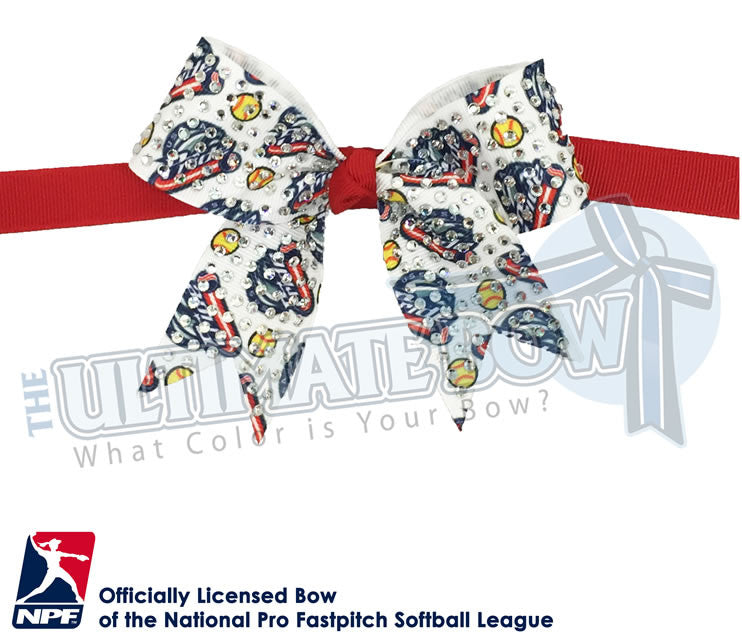 USSSA-Pride-Hair-bow-softball-licensed-official-logo-professional-softball-NPF-National_Pro_Fastpitch-Softball-League