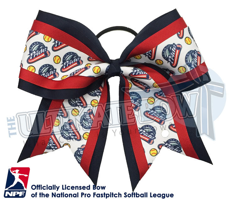 USSSA-Pride-Hair-bow-softball-licensed-triple-play-official-logo-professional-softball-NPF-National_Pro_Fastpitch-Softball-League