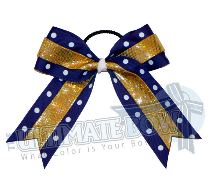 prima-donna-hologram-polka-dots-cheer-bow-royal-blue-gold