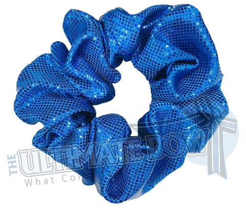 Royal Blue Scrunchies | metallic scrunchies | Prima Donna Scrunchies | Hologram Material Scrunchies | Cheer Scrunchies | Gymnastics Scrunchies