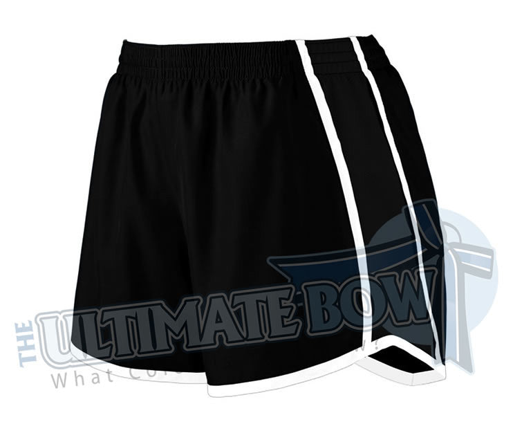 Ladies-team-pulse-shorts-black-white-black-1265-Augusta-Sportswear-cheerleading-softball-soccer-volleyball-basketball-workout