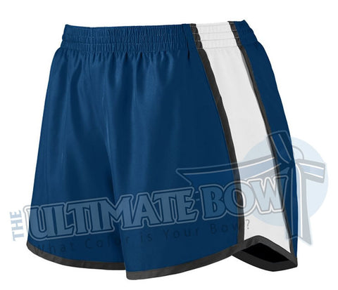 Ladies-team-pulse-shorts-navy-white-black-1265-Augusta-Sportswear-cheerleading-softball-soccer-volleyball-basketball-workout
