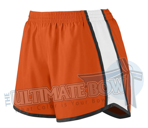 Ladies-team-pulse-shorts-orange-white-black-1265-Augusta-Sportswear-cheerleading-softball-soccer-volleyball-basketball-workout