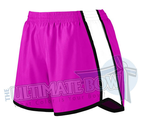 Ladies-team-pulse-shorts-power-pink-white-black-1265-Augusta-Sportswear-cheerleading-softball-soccer-volleyball-basketball-workout