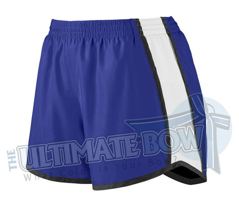 Ladies-team-pulse-shorts-purple-white-black-1265-Augusta-Sportswear-cheerleading-softball-soccer-volleyball-basketball-workout