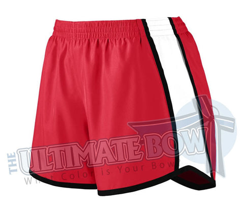 Ladies-team-pulse-shorts-red-white-black-1265-Augusta-Sportswear-cheerleading-softball-soccer-volleyball-basketball-workout