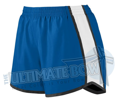 Ladies-team-pulse-shorts-royal-blue-white-black-1265-Augusta-Sportswear-cheerleading-softball-soccer-volleyball-basketball-workout