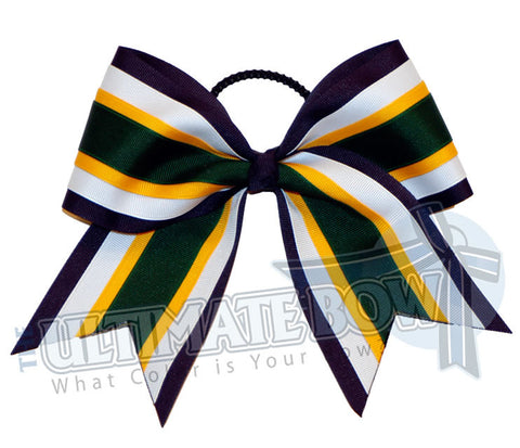 quad-hitch-navy-blue-forest-green-yellow-gold-white-cheer-bow
