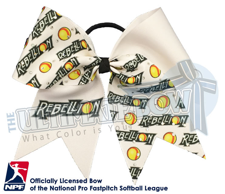 Pennsylvania-Rebellion-Hair-bow-softball-licensed-official-logo-professional-softball-NPF-National_Pro_Fastpitch-Softball-League