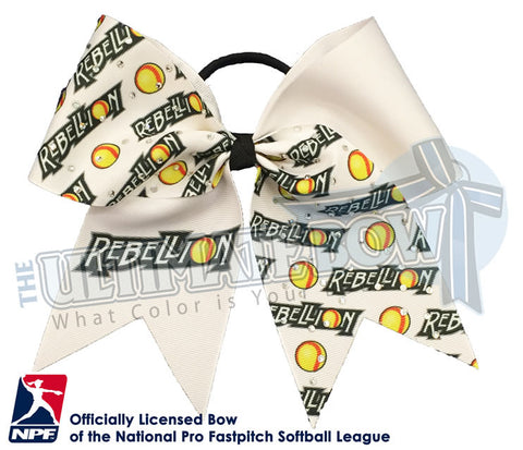 PA Rebellion - Official Rhinestone Logo Bow