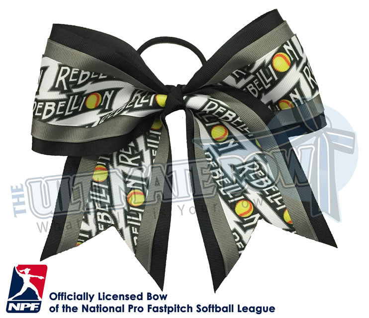 Pennsylvania-Rebellion-Hair-bow-softball-licensed-triple-play-official-logo-professional-softball-NPF-National_Pro_Fastpitch-Softball-League