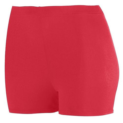 Ladies-Spandex-spanks-boy-cut-shorts-red-1210-Augusta-Sportswear-cheerleading-softball-soccer-volleyball-workout