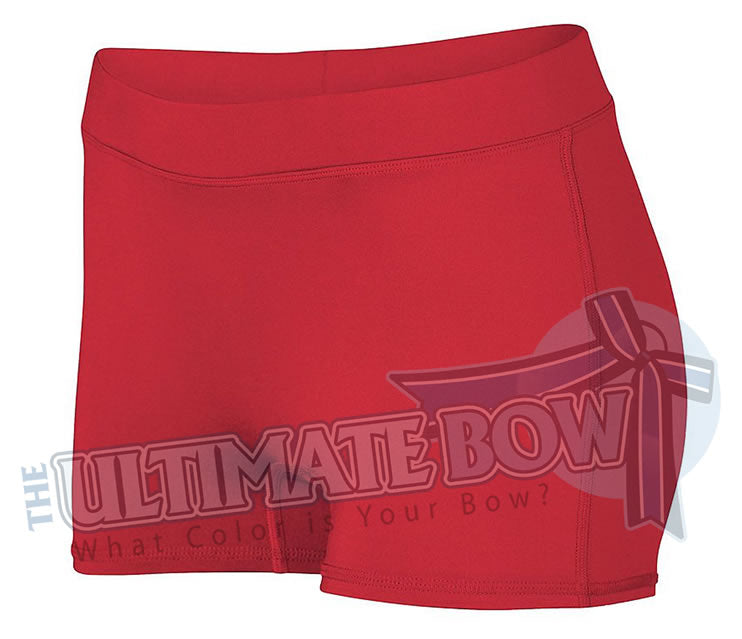 Ladies-Dare-Spandex-spanks-boy-cut-shorts-red-1232-Augusta-Sportswear-cheerleading-softball-soccer-volleyball-workout
