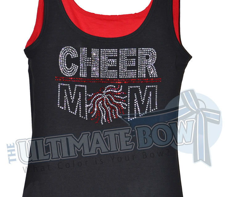 Rhinestone-cheer-mom-tank-top-red-black