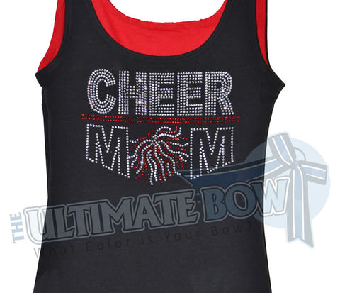 Rhinestone Cheer Mom Tank Top