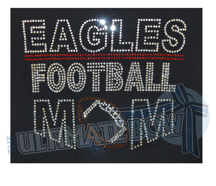 Eagles-Rhinestone-Football-Mom-tshirt-black-red
