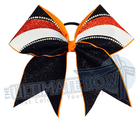 rhinestone-glitter-arch-orange-black-white-cheer-bow-full-glitter