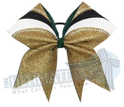 rhinestone-glitter-arch-Gold-glitter-black-white-forest-Green-cheer-bow-full-glitter