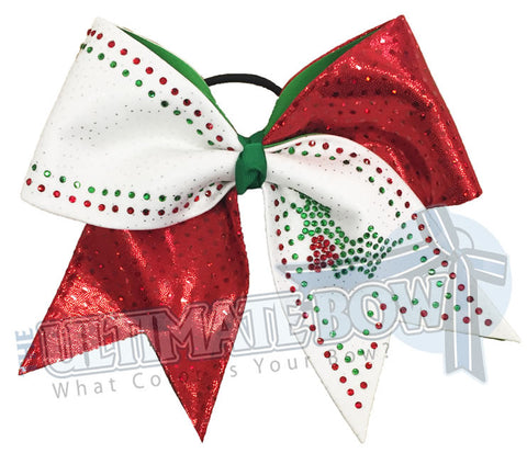 Holly Jolly Rhinestone Bow
