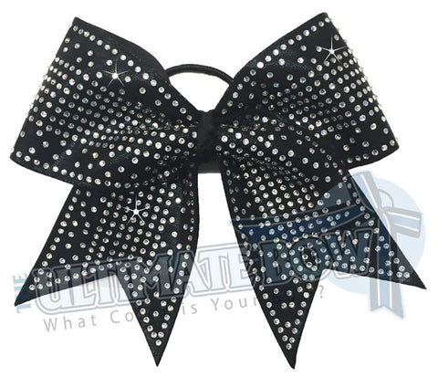 Superior Rhinestone Illumination | Mystic Cheer Bow | Rhinestone Competition Cheer Bow