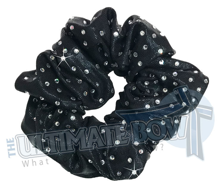 Rhinstone Black Mystic Scrunchie | Competition Cheer Scrunchie | Rhinestone Scrunchies | Rhinestone Hair Scrunchies