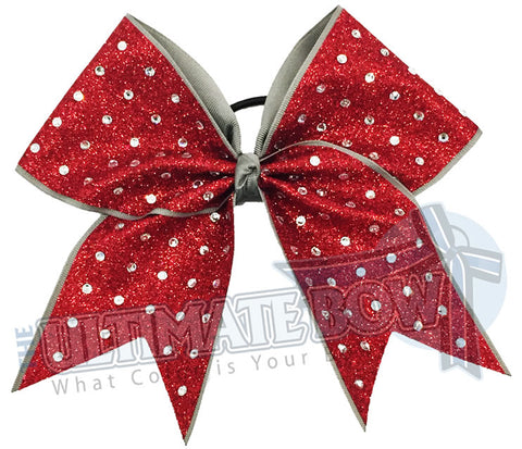 Rhinestone Studded Glitter Cheer Bow