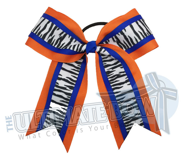 safari-zebra-stripes-cheer-bow-electric-blue-orange-white-animal-print-Florida-gators