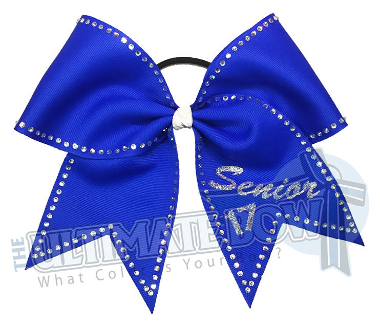 senior-bling-graduation-rhinestone-electric-blue-ribbon-cheer-bow-classof17-2017-senior-year