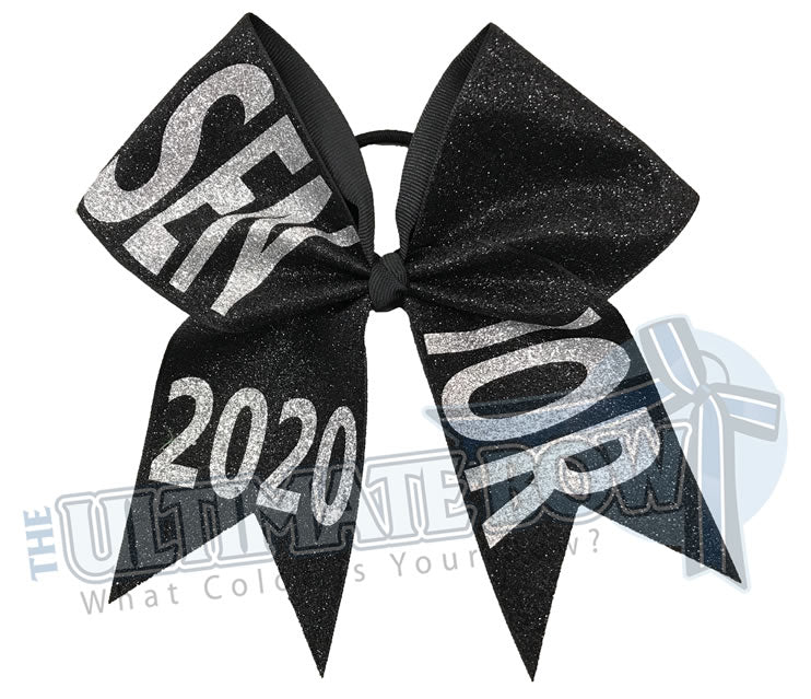 full-glitter-senior-cheer-bow-class-of-2020-celebrate-graduation-graduate Senior Hair Bow