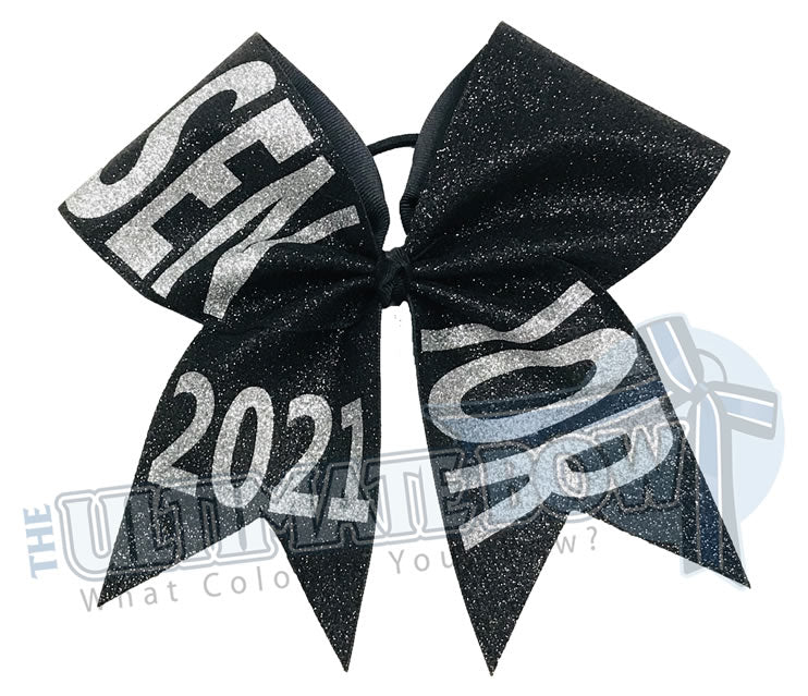 full-glitter-senior-cheer-bow-class-of-2021-celebrate-graduation-graduate Senior Hair Bow | Class of 2021