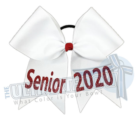 Senior Year Cheer Bow | Cheerleading Hair Bow | Senior Bow