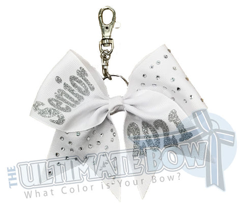 Rhinestones Senior 2021 - Class of 2021 | White | Silver | keychain-key-chain-bow-purse-bling